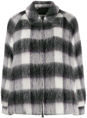 Woolrich Checked Oversized Jacket