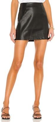 LBLC The Label Abby Vegan Leather Mini Skirt