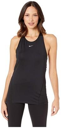 Nike Pro All Over Mesh Tank (Black/White) Women's Sleeveless