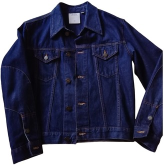 Calvin Klein Collection Blue Denim - Jeans Leather Jacket for Women
