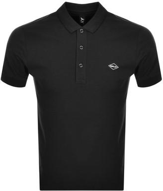 Replay Short Sleeved Logo Polo T Shirt Black