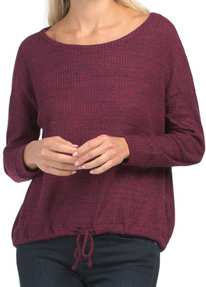 Lightweight Sweater With Tie Front