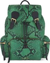 Burberry Python print nylon backpack