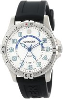 Wenger Men's 77070 Squadron GMT White Dial Rubber Strap Watch