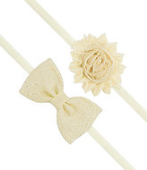 Starting Out 2-Pack Sparkle Burlap Bow & Chiffon Flower Headbands