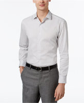 Alfani Men's Fitted Black Texture Stripe Dress Shirt, Only at Macy's