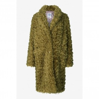 Baum und Pferdgarten Bright Moss Green Dary Faux Fur Coat - 12