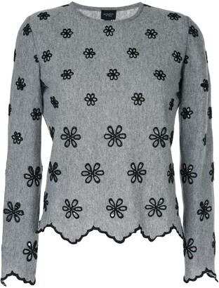 Giambattista Valli Embroidered Flower Jumper