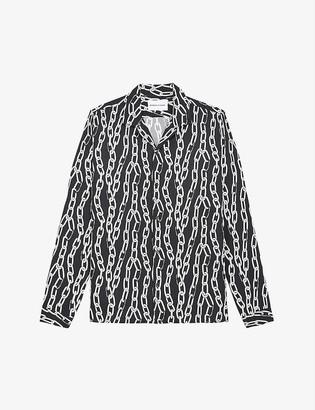 The Kooples Sport Chain-print woven shirt