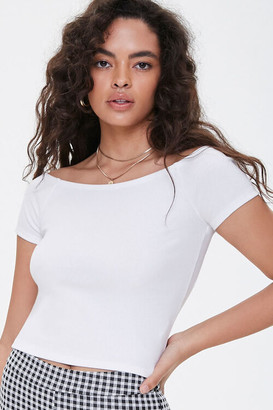 Forever 21 Ribbed Boat Neck Tee