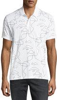 Neil Barrett Siouxsie-Sioux Print Polo Shirt