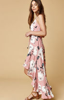 Selfie Leslie Long Printed Maxi Dress