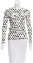 Proenza Schouler Semi-Sheer Argyle Top