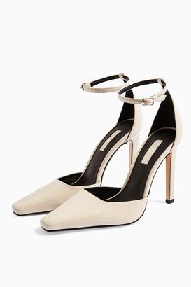 Topshop Womens Gloria Cream Elongated Heels - Cream