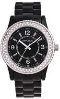 Republic Women's Black Resin Strap Glitz Watch RP1089