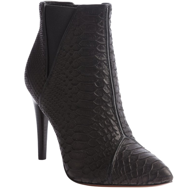 Rachel Zoe black python embossed leather 'Fabian' ankle boots