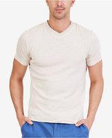 Nautica Men's Striped V-Neck Slim Fit T-Shirt