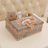 ZIJI Europea Livig Tissue Box/Household Multifuctioal Coffee Table Remote Cotrol Storage Box