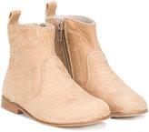 Pépé zipped ankle boots - kids - Calf Leather/Leather - 24