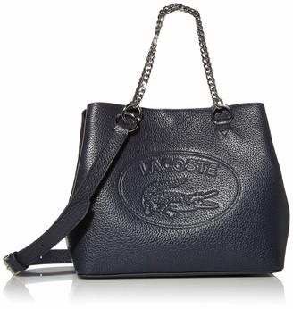 Lacoste Women's Leather Croc Chain Top Handle Shoulder Bag