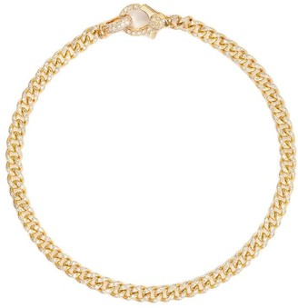 Shay 18K yellow gold 7 inch baby pave diamond bracelet