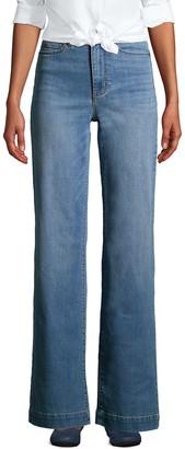 Lands' End Women's High Rise Wide-Leg Jeans