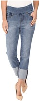 Jag Jeans Lewis Pull-On Straight Cuffed Comfort Denim in Weathered Blue