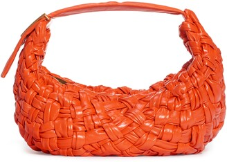 Bottega Veneta Banana Woven Leather Shoulder Bag