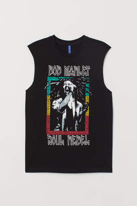 H&M Tank Top with Printed Design