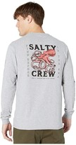 Salty Crew Squiddy Long Sleeve Tee (Athletic Heather) Men's T Shirt
