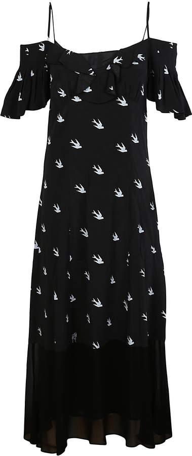 Alexander McQueen Mcq Swallow Print Long Dress