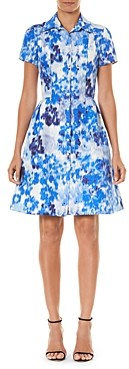 Carolina Herrera Abstract Print Shirt Dress