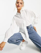 Thumbnail for your product : New Look poplin shirt in white