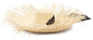 Sensi Lady Ibiza Fringed Wide-brim Straw Hat - Womens - Beige