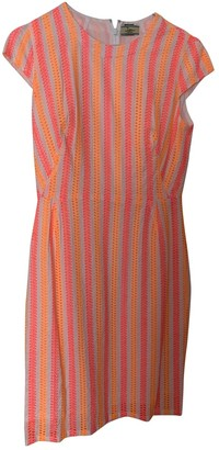 Non Signé / Unsigned Non Signe / Unsigned Orange Cotton Dress for Women