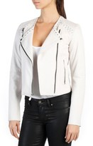 Paige Women's Devin Lambskin Leather Moto Jacket
