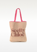 See by Chloe Signature Canvas Tote Bag