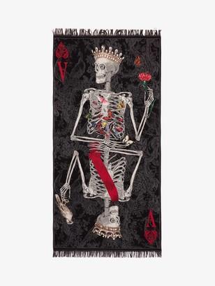 Alexander McQueen Queen of Hearts Skeleton Shawl