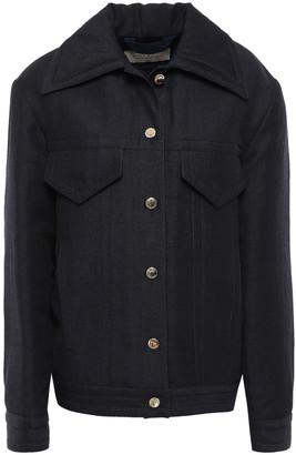 Nina Ricci Wool And Linen-blend Twill Jacket