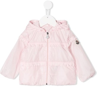Moncler Enfant Logo Zipped Jacket