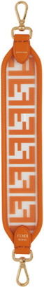 Fendi Transparent and Orange PU Mini Forever Strap You Bag Strap