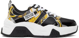 Versace Black Logo Baroque Sneakers
