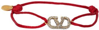 Valentino Red Garavani Cord VLogo Bracelet