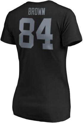 Womens' Majestic Oakland Raiders Antonio Brown V-Neck Tee
