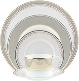 Nikko Lattice Gold Scalloped Bone China 5-Piece Place Setting