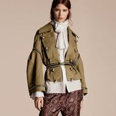 Burberry Stretch Cotton Military Jacket