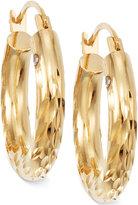 Signature GoldTM Diamond Cut Small Hoop Earrings in 14k Gold over Resin