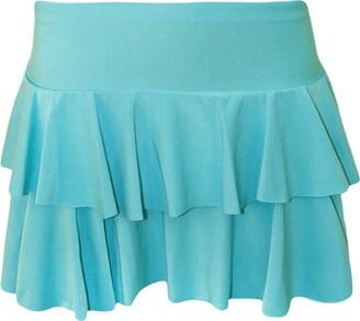 B Womens Ladies RARA Mini Short Skirt Party Wear Fancy Dress Casual Summer Wear(Turquoise RARA Skirt SK8721#Medium/Large#Womens)