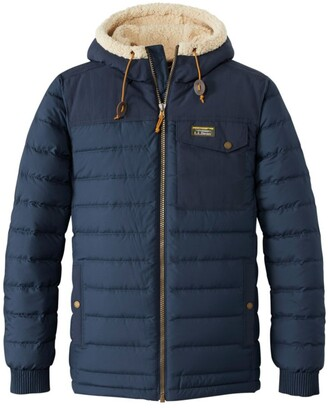 L.L. Bean Men's Mountain Classic Down Hooded Jacket, Sherpa-Lined