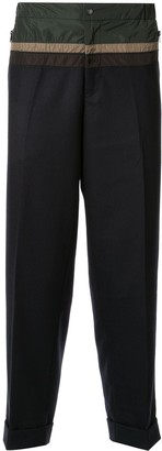 Kolor Contrasting Panelled Tapered Trousers
